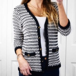 Cabi Coco Waffle Knit Cardigan Size Small
